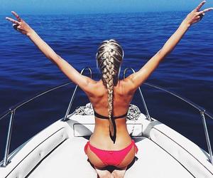 girl, bikini, and blonde image
