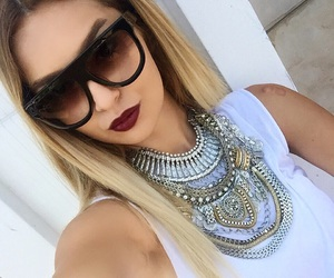 accesories, black sunglasses, and blonde image