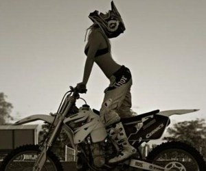 girl, motocross, and Hot image
