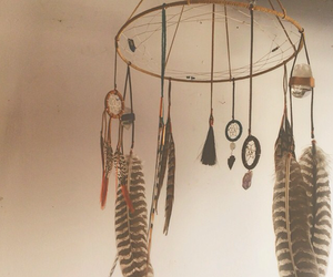 dream catcher, dreamcatcher, and feathers image