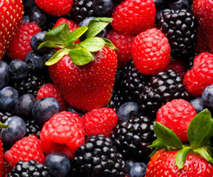 berries, food, and red image