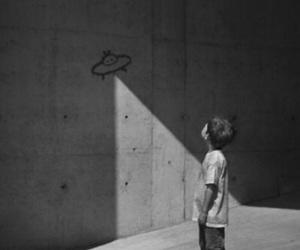 alien, boy, and ufo image