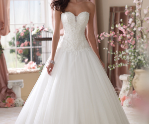 wedding dress, dress, and white image