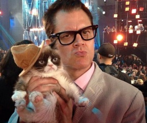 grumpy cat and Johnny Knoxville image