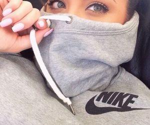 nike, girl, and eyes image