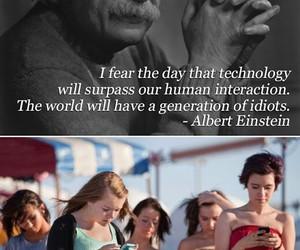 quotes, Albert Einstein, and idiot image