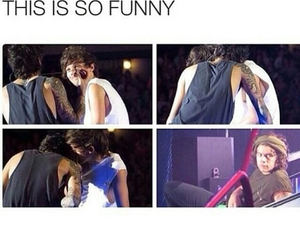 one direction, funny, and larry image