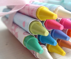 crayons and pastel image