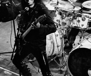 Black Metal, corpsepaint, and guitar image