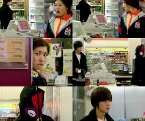 funny, playful kiss, and jung so min image