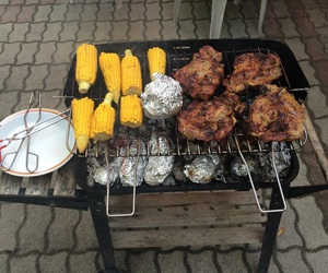 barbeque, corn, and eat image