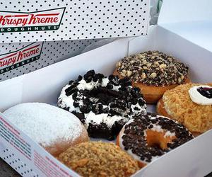 food, donuts, and krispy kreme image