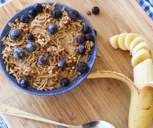 banana, blueberries, and breakfast image