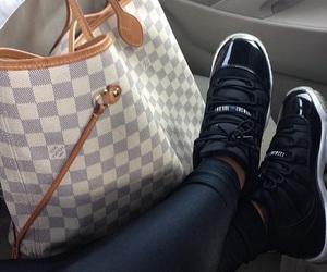 shoes, bag, and jordan image