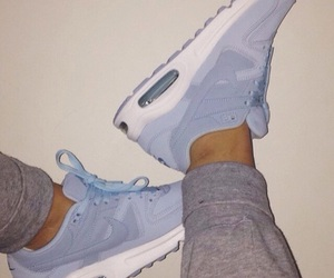 blue, shoes, and air max image