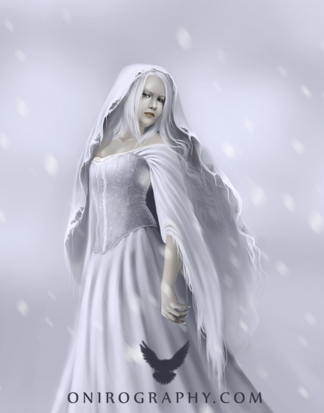 ice queen, girl, and illustration image