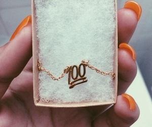 necklace, emoji, and 100 image