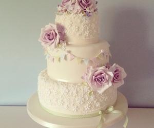 cake, wedding, and cute image