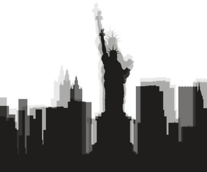 new york city, nyc, and shadow image