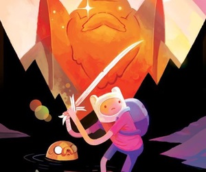 adventure time, jake the dog, and finn the human image
