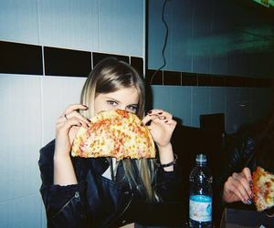 girl, pizza, and grunge image