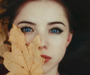 autumn, girl, and eyes image