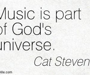 cat stevens, god, and music image