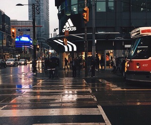 adidas, city, and rain image