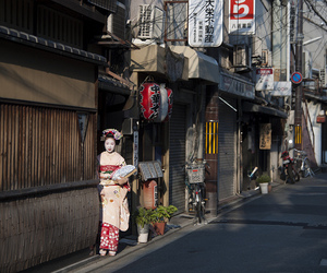 geisha, gion, and japan image