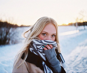 girl, blonde, and cold image