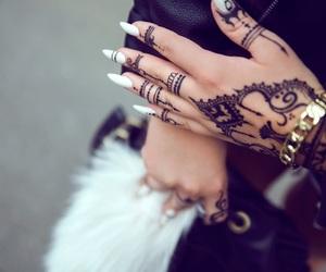 fashion, nails, and henna image