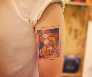 tattoo, picasso, and art image