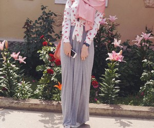 chic, fashion, and hijab image