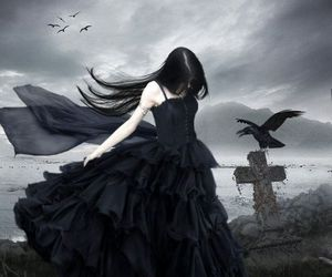 fallen, black, and luce image