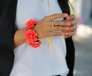 fashion, nails, and flowers image