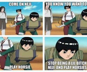 rock lee, funny, and naruto image