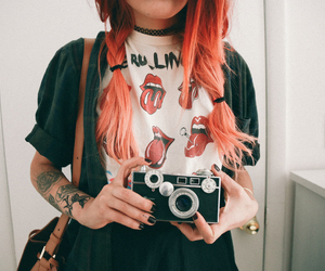 camera and red hair image