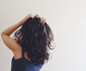 brown hair, girl, and hair image