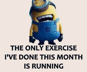 funny, exercise, and minions image