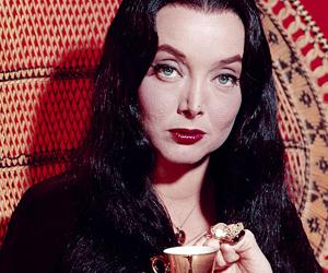 Morticia Addams, carolyn jones, and dark image