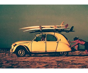 surf, car, and beach image