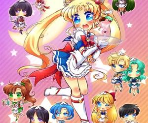 kawaii, serena, and sailor moon image