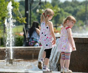 fountain, russia, and kids image