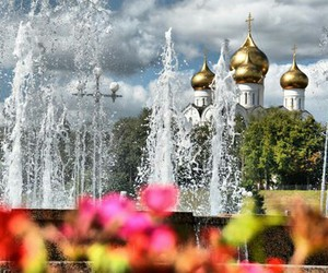 church, russia, and summer image