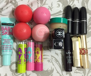 chanel, eos, and mac image