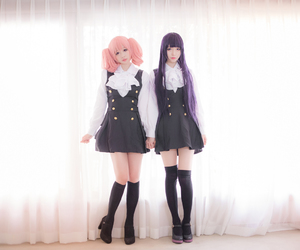 inu x boku ss cosplay, cute anime girl cosplay, and pink hair girl cosplay image