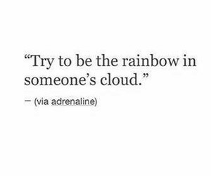 life, quote, and rainbow image