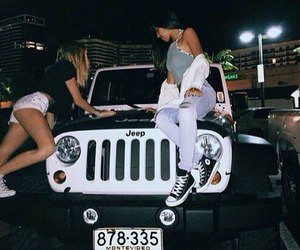 girl, friends, and jeep image