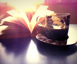 August, book, and coffee image