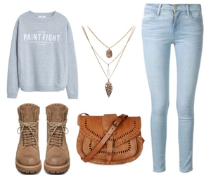 casual, Polyvore, and girl image